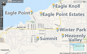 Map of Big Bear Lake East
