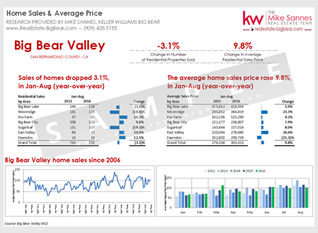 Big Bear Market Report: Sales by Area