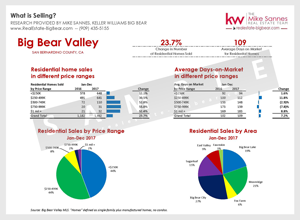 Big Bear Real Estate Sold by Price Range